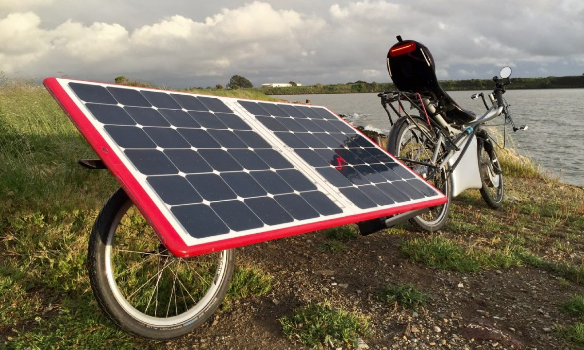 Yup. It's a solar powered ebike.